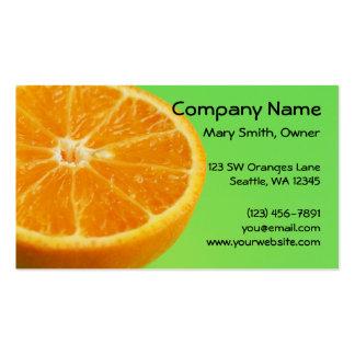 Orange Fruit Half Slice Pack Of Standard Business Cards