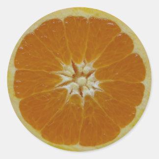 Orange Fruit Slice Classic Round Sticker