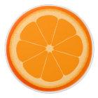 Orange fruit slice pull knob handle
