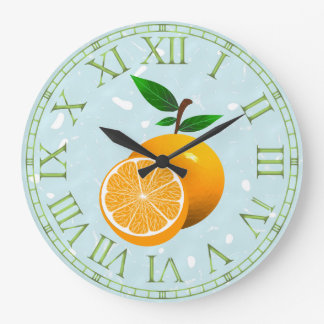 Orange Fruit Wallclocks