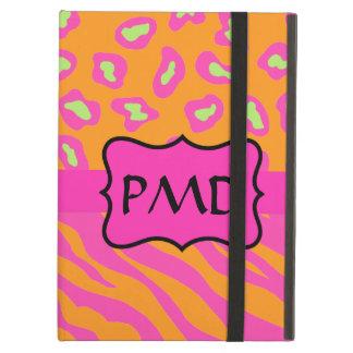 Orange & Fuchsia Pink Zebra Leopard Skin Custom iPad Air Covers