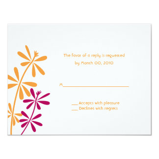 Orange & Fuchsia reply cards