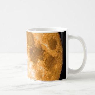 orange full moon coffee mug