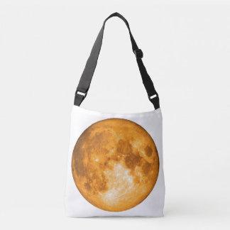 orange full moon crossbody bag