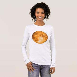orange full moon long sleeve T-Shirt