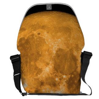 orange full moon messenger bag