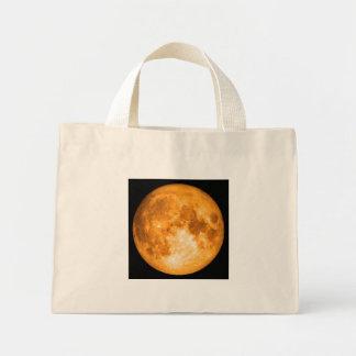 orange full moon mini tote bag