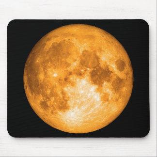 orange full moon mouse pad