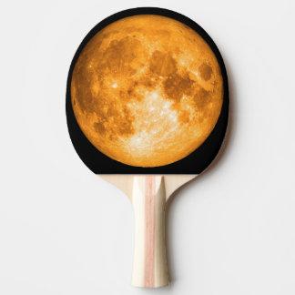 orange full moon ping pong paddle