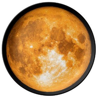 orange full moon plate