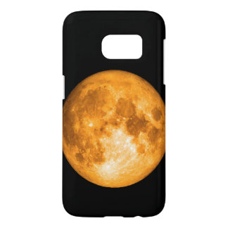 orange full moon samsung galaxy s7 case