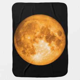 orange full moon stroller blanket