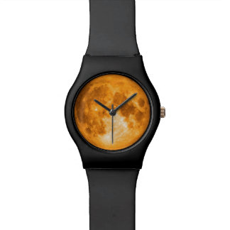 orange full moon watch