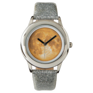 orange full moon wrist watches