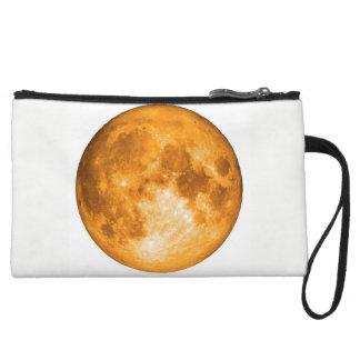 orange full moon wristlet clutches