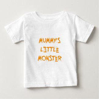 Orange Funny Mummy's Little Monster Halloween T Shirts