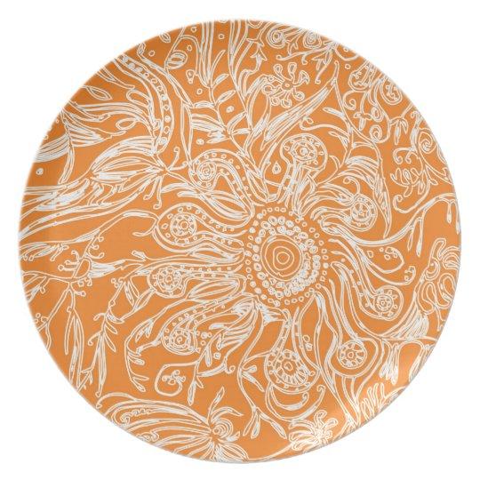 Orange Garden Plate