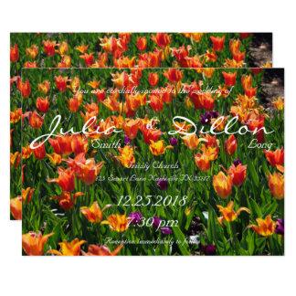 Orange Garden Wedding Card