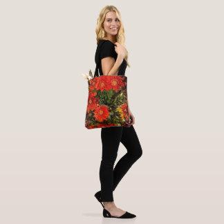 Orange Gazania Daisy Flowers Tote Bag