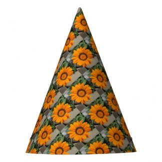 Orange Gazania Flower With Natural Background Party Hat