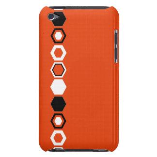 Orange Geometric Abstract Art Design iPod Case-Mate Cases