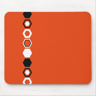 Orange Geometric Abstract Art Design Mouse Pad
