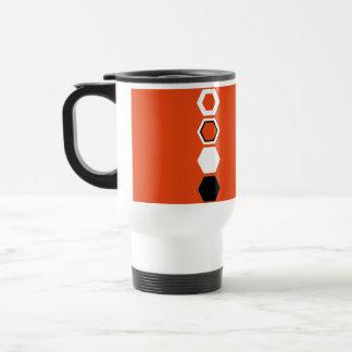 Orange Geometric Abstract Art Design Mugs
