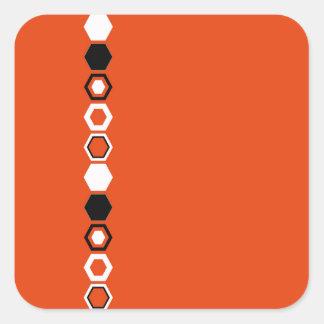 Orange Geometric Abstract Art Design Sticker
