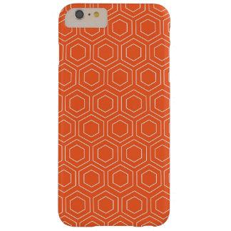 Orange Geometric Pattern Cell Phone Case