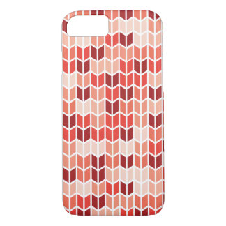 Orange Geometric Pattern iPhone 7 Case