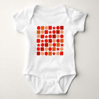 Orange Geometrics Baby Bodysuit