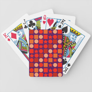Orange Geometrics on Bicycle Playing Cards