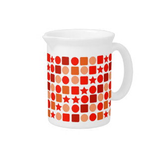 Orange Geometrics on Drink Pitcher