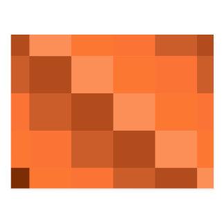 Orange Geometries Postcard