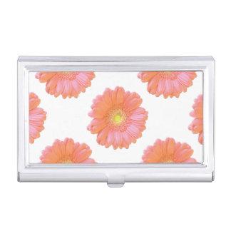 Orange gerbera daisy business card holder