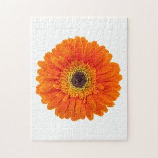 Orange Gerbera Daisy Jigsaw Puzzle