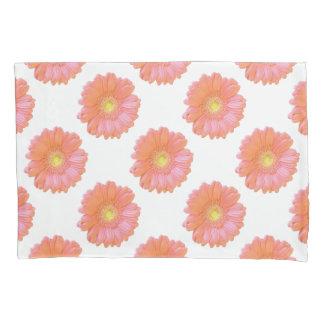 Orange gerbera daisy pillowcase