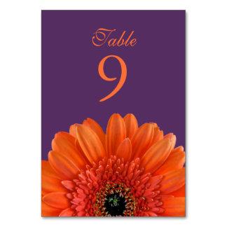 Orange Gerbera Daisy Purple Wedding Card