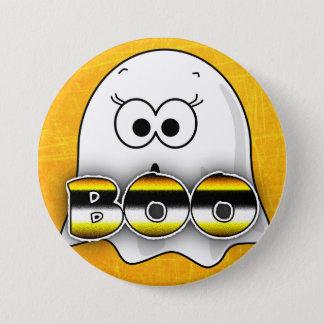 Orange Ghost BOO Halloween Button