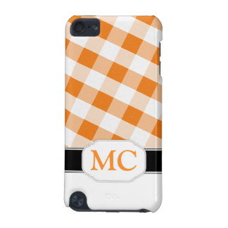 Orange Gingham Monogram iPod Touch 5G Case