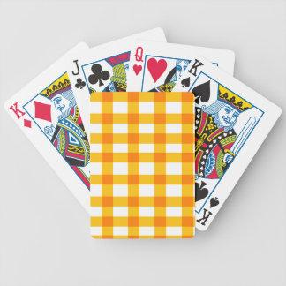 Orange Gingham Poker Deck