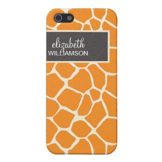 Orange Giraffe Pern iPhone 5/5S Covers
