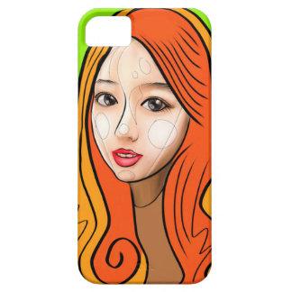 Orange Girl portrait concept iPhone 5 Cover