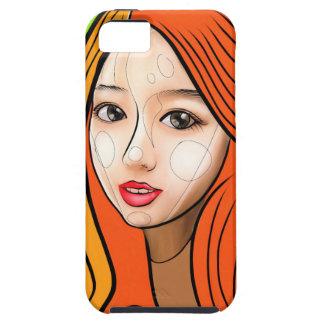 Orange Girl portrait concept iPhone 5 Covers