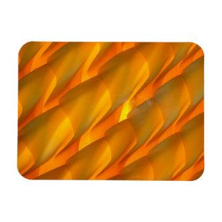 Orange Glass Light Shade Rectangular Photo Magnet