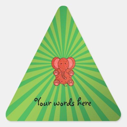 Orange glitter elephant green sunburst stickers