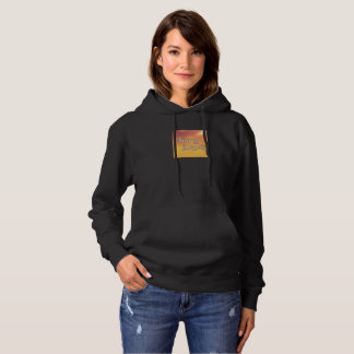 Orange Glow Hippy Angel Logo Sweatshirt Hoodie