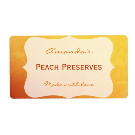 Orange&Gold Personalized Canning Label