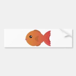 Orange Goldfish Cartoon Bumper Sticker