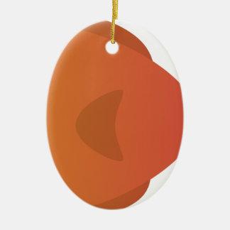 Orange Goldfish Cartoon Ceramic Ornament